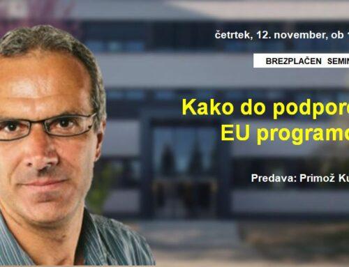 Kako do podpore iz EU programov?